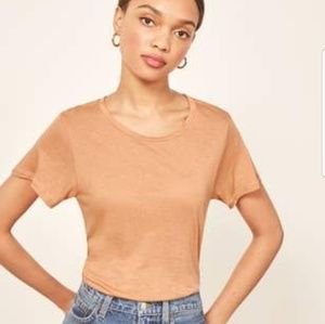 LIKE NEW Reformation flax relaxed crew tee